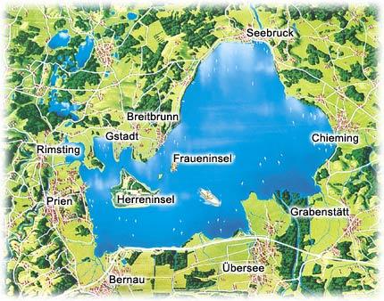 Chiemsee Karte.Der Chiemgau Ihr Zuhause In Ruhig Gelegene Ferienwohnung Zentral